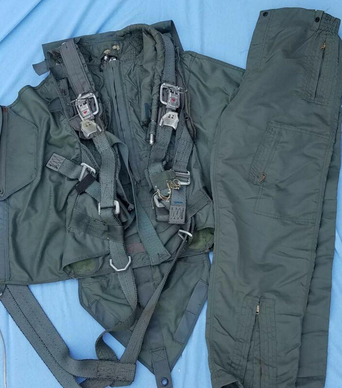 80s USAF Parachute Harness W B-2 Flight Pants