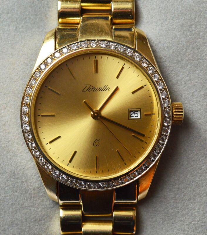 Dórville Herrenarmbanduhr 14 Karat 585 Gold 48 Brillanten 81 g Armbanduhr Quarz
