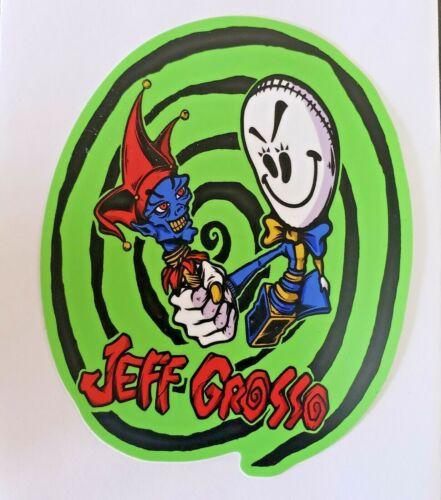 Jeff Grosso skateboard Sticker  Black Label Santa Cruz Jester Ragdoll