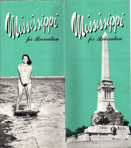 Mississippi Vintage Travel Brochure Photos Keyed Pictorial Map Circa 1940s-1950s