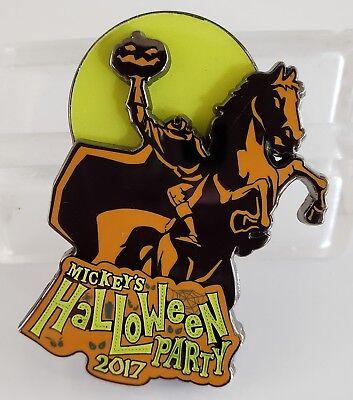 DLR - MICKEY'S HALLOWEEN PARTY 2017- HEADLESS HORSEMAN ANNUAL PASSHOLDER LE PIN (Disney Halloween Party Headless Horseman)