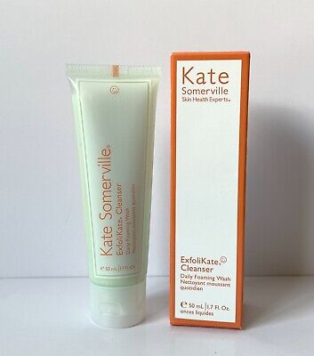 BNIB Kate Somerville Exfolikate Cleanser Daily Foaming Wash 50ml Glycolic Lactic