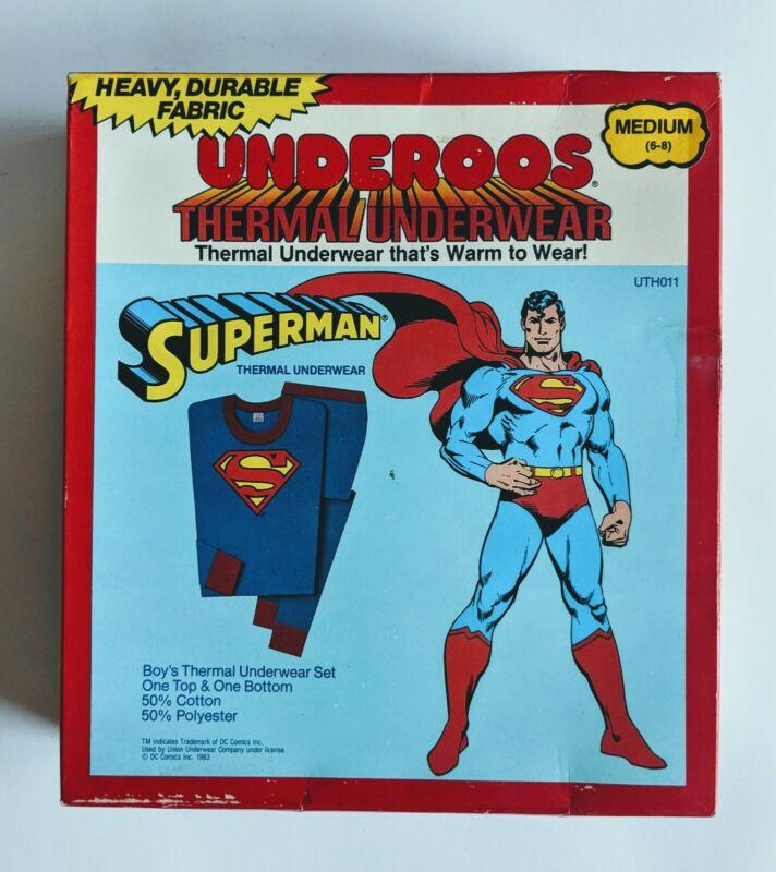 SEALED Vintage Superman Underoos Thermal Underwear 1982 NIB