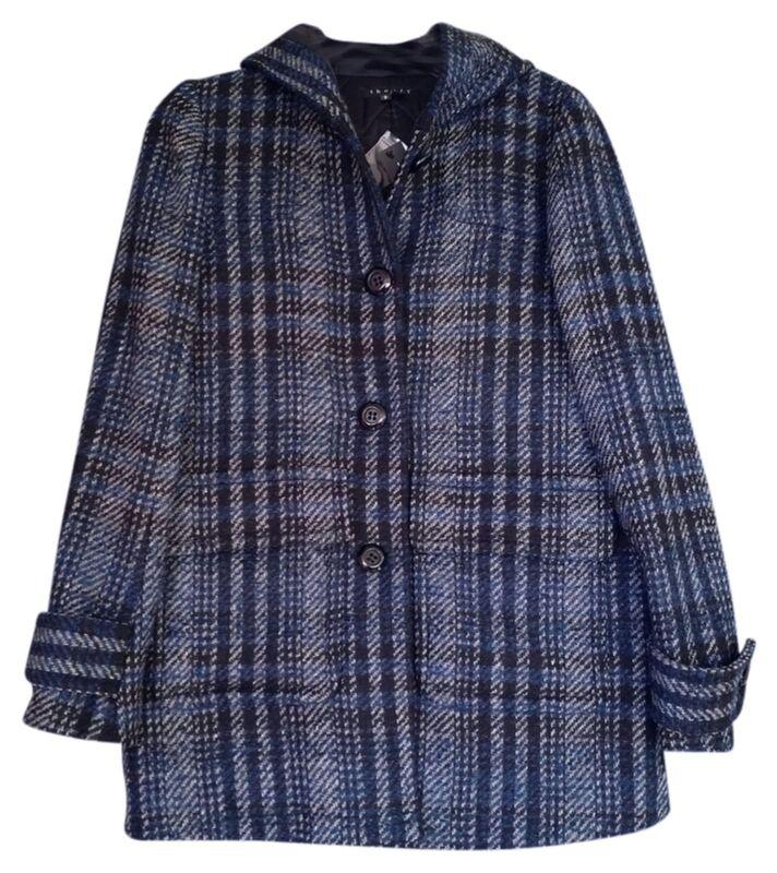 "$750 Theory Sz L Bust 42"" Hooded Lany Donovan Coat Jacket C081499r Women Lady"