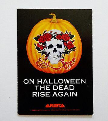 The Grateful Dead Halloween (Grateful Dead Card 1989 On Halloween The Dead Rise Again Arista Promo Mikio)
