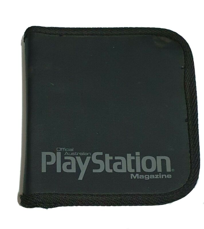 Vintage Playstation Magazine - Game & CD Zip Up Disc Case - Videogame Storage
