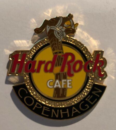 Hard Rock Cafe *COPENHAGEN, DENMARK* LOGO PIN WITH DRAGON DESIGN UNUSED