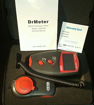 Dr.meter Lx1010b Digital Illuminancelight Meter 0 - 100000 Lux Lcd Screen