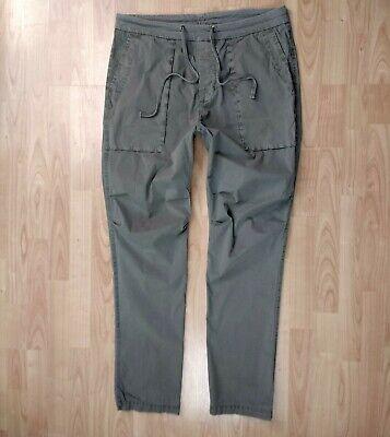 James Perse - Green Drawstring Pants - XL W37 L34 - Cotton Elastane - Trousers