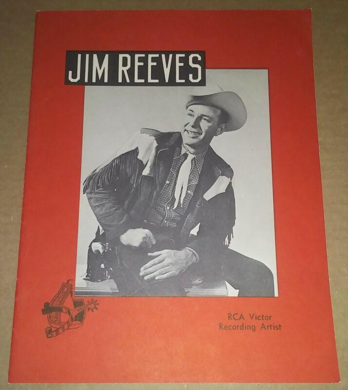 Jim Reeves Band Autographed Tour Promo Booklet Program NO JIM Rockabilly HOF