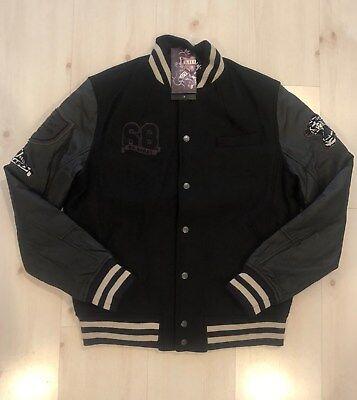 Hardy Tiger Leather (MEN RARE ED HARDY LEATHER JACKET VARSITY