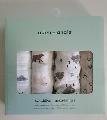 Aden + Anais Swaddles Bear Necessities 4-Pack