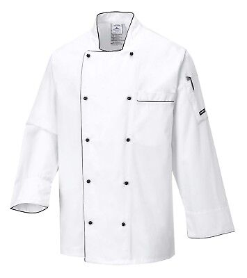 Portwest Executive Chefs Jacket Food Industry Catering Cooking C776 Executive Chefs Jacket