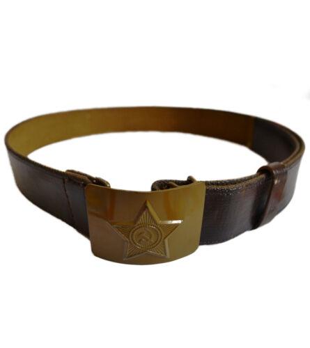Ussr soldier canvas belt steel buckle adjustable original soviet army part new