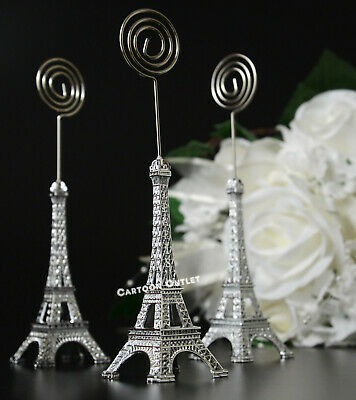 10 EIFFEL TOWER FIGURES CARD HOLDER PARTY FAVORS WEDDING BRIDAL QUINCEANERA