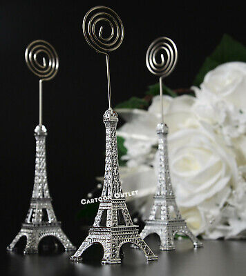 10 EIFFEL TOWER FIGURES CARD HOLDER PARTY FAVORS WEDDING BRIDAL QUINCEANERA   - Eiffel Tower Wedding Party