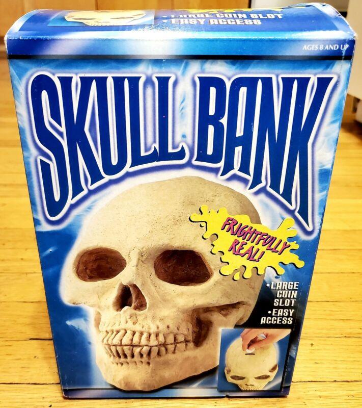 Vintage Halloween Skull Bank New Open Box