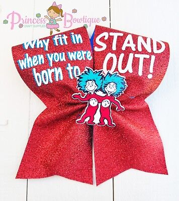 Dr. Seuss Bows, thing one and two bow, thing 1 and 2 bow, dr. Seuss - Thing One And Thing 2