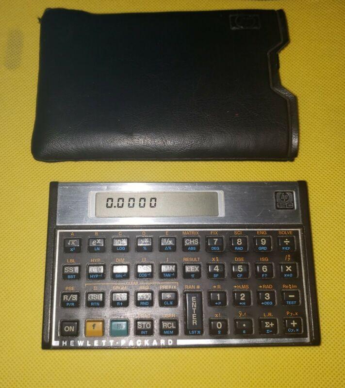 Vintage HP-15C Scientific Calculator with Slip Cover