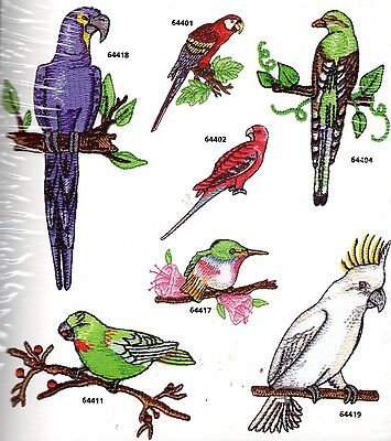 NewTropical Birds Machine Embroidery Designs PES SEW JEF PCS PSW CSD DST JUS  +