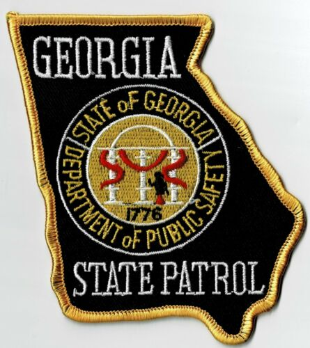 GEORGIA STATE PATROL - SHOULDER PATCH - IRON OR SEW-ON PATCH