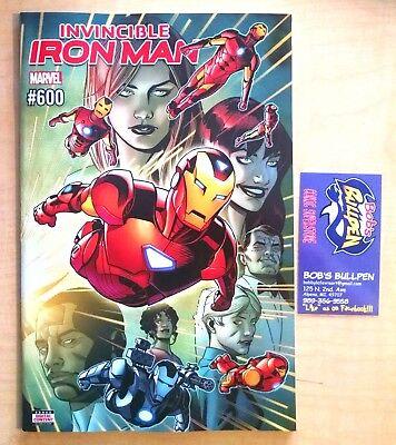 Invincible Iron Man #600 2018, Reg Cover (1st. Prints)