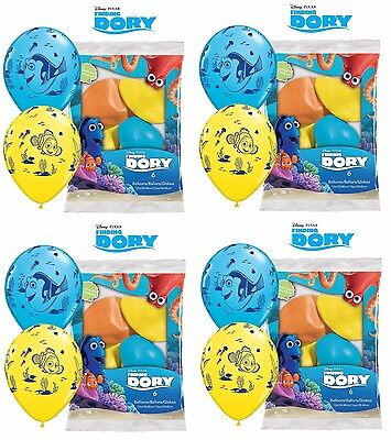 NEW Finding Dory Nemo Birthday Party Favor 24CT-Latex Balloons Supplies - Dory Birthday