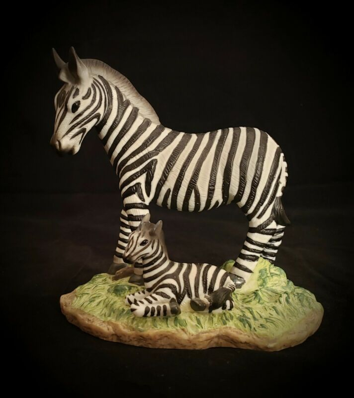 """Mother Zebra & Young Foal Porcelain Figurine 5""""+"""