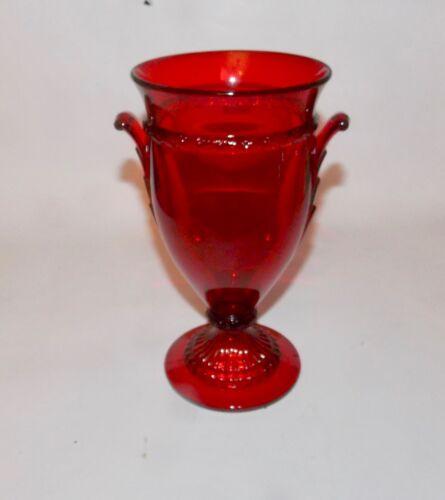 Carmen Red Cambridge Gadroon Vase