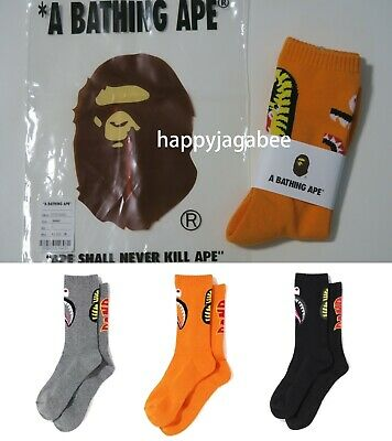 ** A BATHING APE Goods Men's 2nd SHARK SOCKS 3colors From Japan new