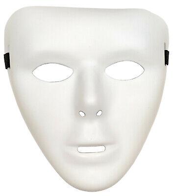 Matt Plastik Gesichtsmaske Bemalbar Michael Myers QR15 (Halloween Michael Myers Gesicht)