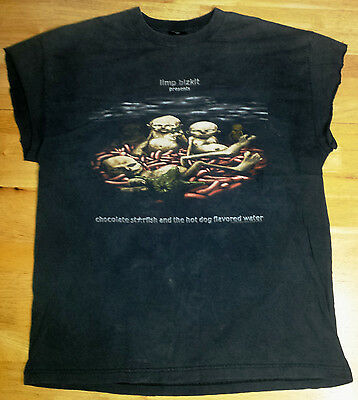 RARE 90's LIMP BIZKIT Choc. Starfish & Hot Dog Flavored Water T-Shirt Size XL