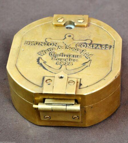 ANTIQUE BRASS BRUNTON COMPASS LONDON 1818 VINTAGE COMPASS