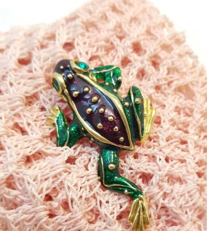 Enamel Brooch Pin Climbing Frog Toad Fashion Jewelry Amphibian Animal