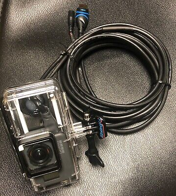 Underwater Housing 10ft HDMI USB Power Glowing Feed For Gopro Hero5-Hero6 Hero7 Cam