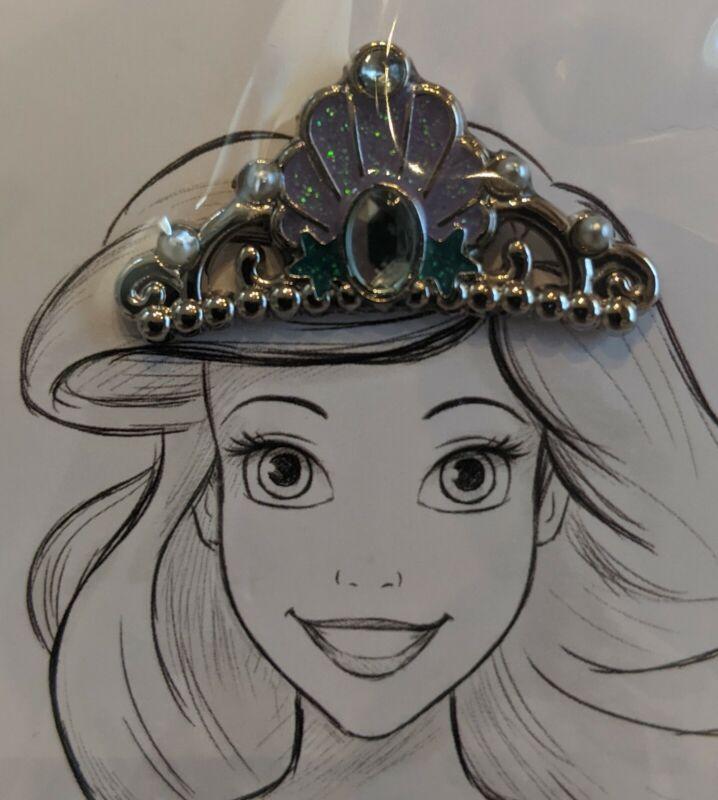 New Disney Crown Tiara Pin Ariel The Little Mermaid OE