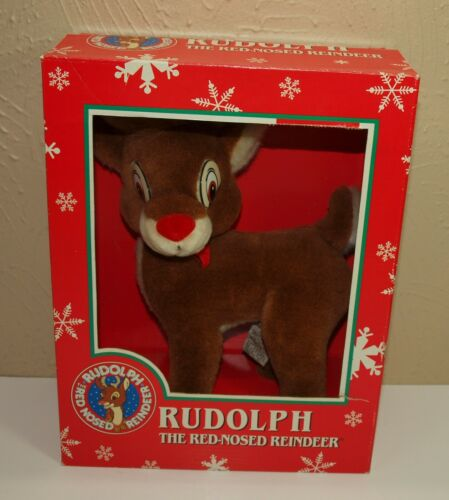 Vintage Applause RUDOLPH The Red Nosed Reindeer Christmas PLUSH w/Box Robert May