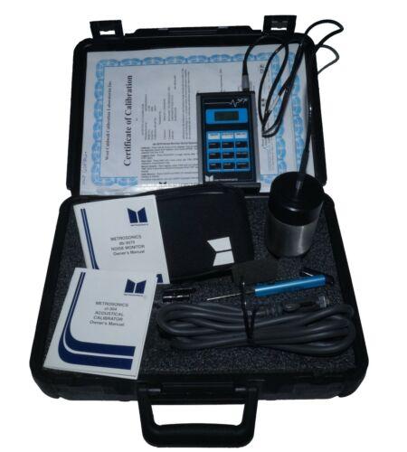 Metrosonics db-3070 Sound Level Meter cl-304 Acoustical Calibrator, Case, More