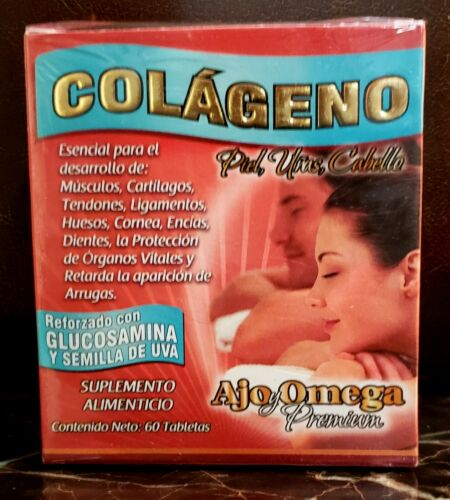 Hydrolyzed Collagen,  Colageno Cápsulas , 60 caps skin,bones,nails,hair piel