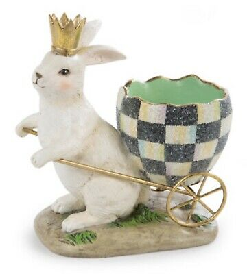 Authentic MacKenzie-Childs Egg Hunt Bunny - NIB