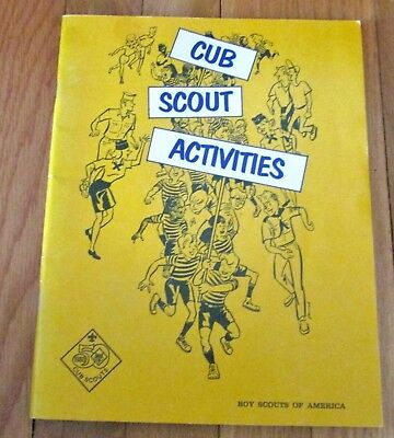 Cub Scout Activities Book BSA 1978 Games Events Derby PB 80 Pages