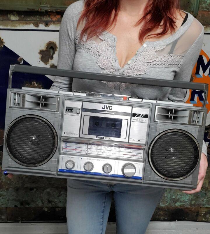 Vintage JVC RC-770 JW Stereo Radio Cassette Recorder Boom Box Blaster Working