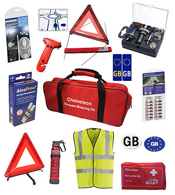 European Car Travel Kit Items for Legal Driving in Europe | Breathalyzers France