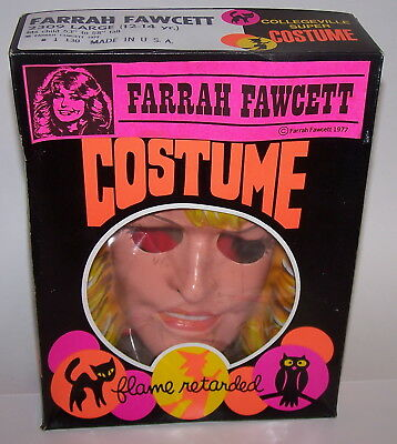 Farrah Fawcett 2309 Halloween Costume Large 12-14 Flame Retarded NIB 1977