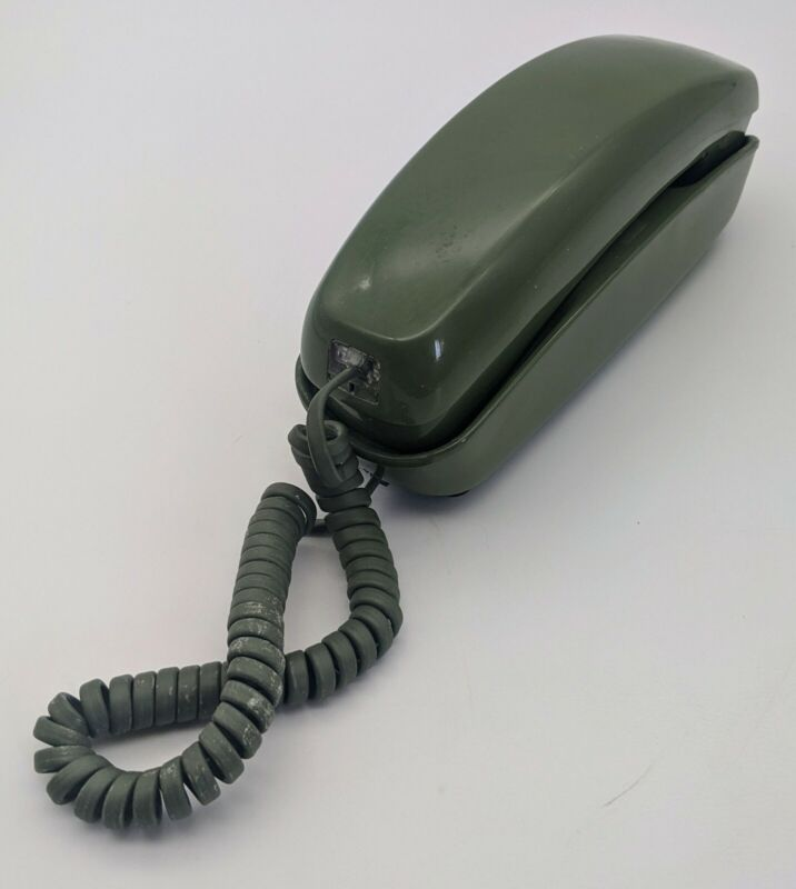 Vintage Western Electric Trimline Push Button Telephone Green w/ Green Cord RARE
