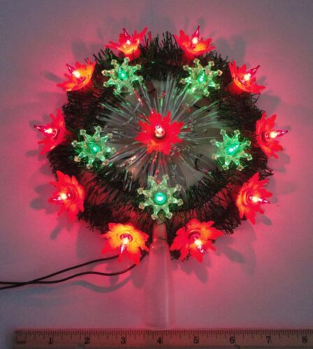 Vintage Green/Red Lighted Tree Topper in Original Packaging