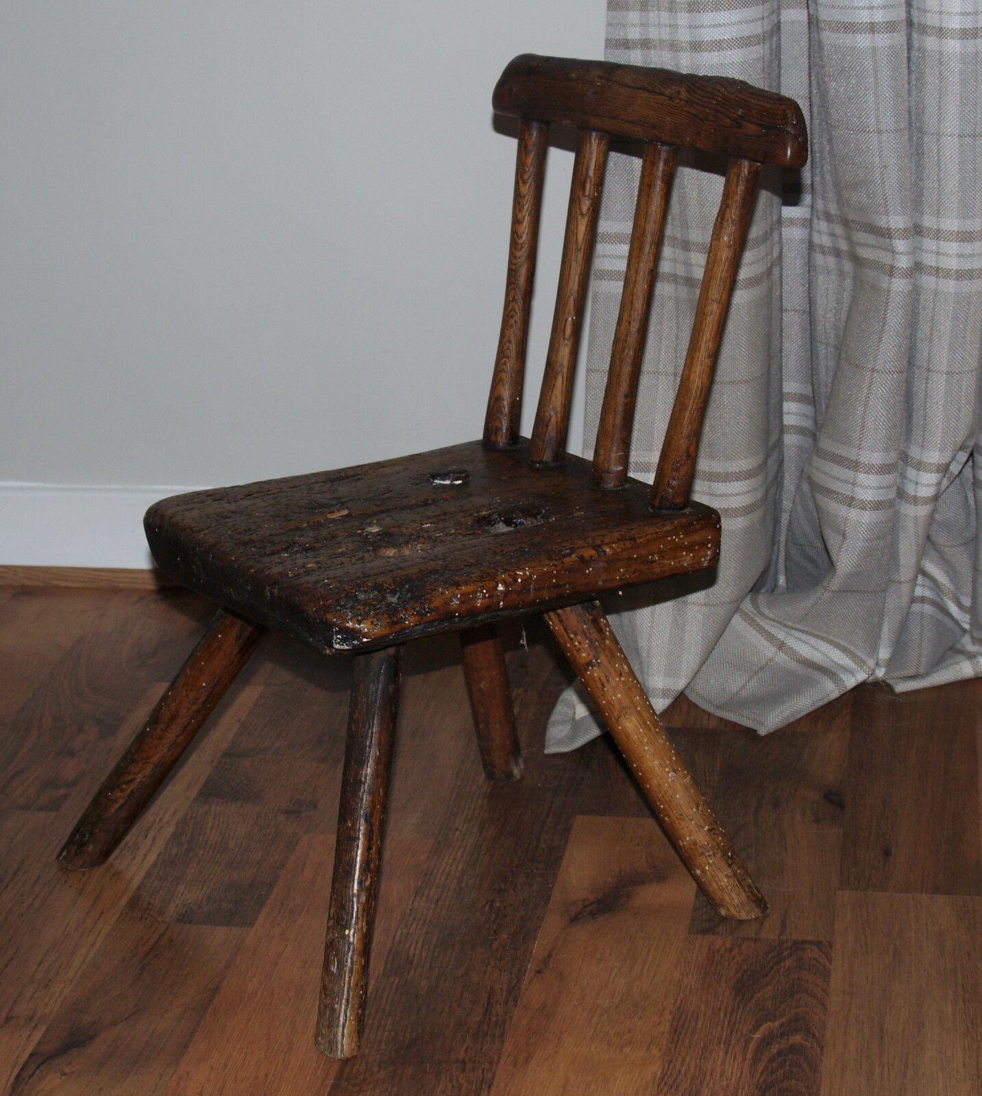 West coast of Scotland primitive  child's chair  c 1800