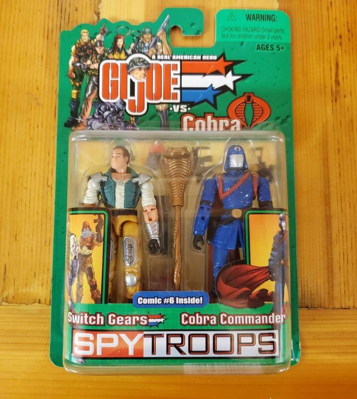 GI Joe SPY TROOPS 2 Pack! Switch Gears/Cobra Commander! NIP! Hasbro