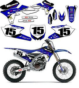2000 2001 yamaha yz 125 250 graphics kit decals yz125 yz250 stickers deco ebay. Black Bedroom Furniture Sets. Home Design Ideas