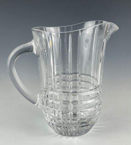 """Tiffany & Co. Crystal Plaid Pitcher Mint Condition 7"""" Tall"""